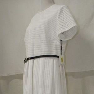 Calvin Klein Women's Belted Fit & Flare Dress